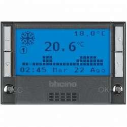 BT Axolute Антрацит Термостат электронный недельный батарея 2х1,5V 3 мод арт. HS4451