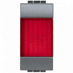 BT LL Антрацит Сигнальный элемент , красный 1 модуль для ламп 11250L-11251L-11252L арт. L4371R