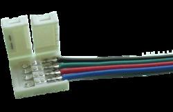 Briaton Коннектор выводной для многоцветных лент шириной 10 мм Пластик арт. Коннектор выводной FIX-RGB10-1