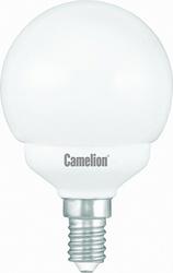 Camelion Лампа люминесцентная компактная шарик 11Вт, 220В, E14, ярко-белая арт. FC11-G/842/E14