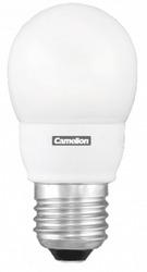 Camelion Лампа люминесцентная компактная шарик 7Вт, 220В, E27, тёпло-белая арт. FC7-G/827/E27