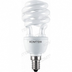 Comtech Лампа компактная люминисцентная спираль 15W E14 2700K арт. CH940217
