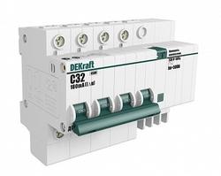 DEKraft ДИФ-101 Дифференциальный автоматический выключатель 4Р 50А 300мА тип AC (С) 4,5кА арт. 15048DEK