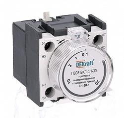DEKraft KM-103 Приставка выдержки времени с задержкой при вкл. 0.1-3сек. 1з+1р ПВ-03 арт. 24111DEK