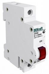 DEKraft ЛC-101 Красная Лампа LED сигнальная на DIN-рейку 1P 220В арт. 18002DEK