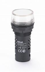 DEKraft ЛK-22 Белая Лампа LED коммутаторная ADDS D=22мм 220В AC/DC арт. 25121DEK