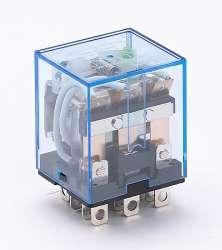 DEKraft ПР-102 Промежуточное реле 3 конт. с инд. LED 10А 12В DC арт. 23209DEK