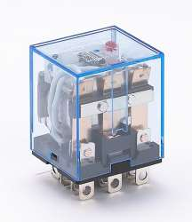 DEKraft ПР-102 Промежуточное реле 3 конт. с инд. LED 10А 24В AC арт. 23206DEK