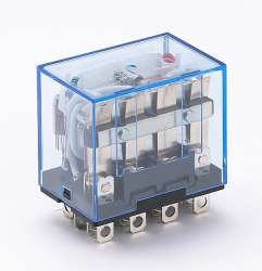 DEKraft ПР-102 Промежуточное реле 4 конт. с инд. LED 10А 12В AC арт. 23212DEK