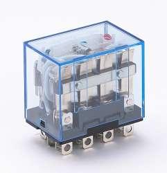 DEKraft ПР-102 Промежуточное реле 4 конт. с инд. LED 10А 220В AC арт. 23210DEK