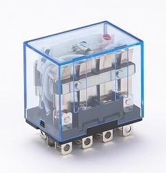DEKraft ПР-102 Промежуточное реле 4 конт. с инд. LED 10А 24В AC арт. 23211DEK
