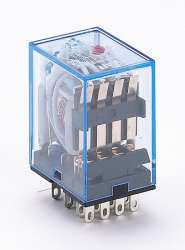 DEKraft ПР-102 Промежуточное реле 4 конт. с инд. LED 5А 12В AC арт. 23227DEK