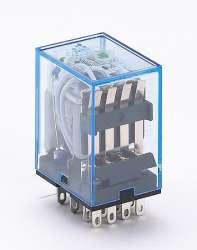 DEKraft ПР-102 Промежуточное реле 4 конт. с инд. LED 5А 24В DC арт. 23228DEK