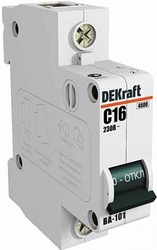 DEKraft ВА-101 Автоматический выключатель 1Р 25А (C) 4,5кА арт. 11056DEK