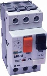 DEKraft ВА-401 Автоматический выключатель защиты двигателя 3P 0,4-0,63A 50кА арт. 21200DEK