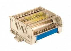 DKC Блок распределительный на DIN рейку 5р 160А, 8х7мм 2х8мм 2х9мм 1х12мм арт. BD160135