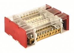 DKC Блок распределительный на DIN рейку с выносной клеммой 4р 160А, 11х7мм 2х8мм 2х9мм 1х12мм арт. BD3160164