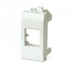 DKC Brava Белый Адаптер для информационных разъемов Systimax 1 мод арт. 76609B
