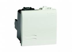 DKC Brava Белый Выключатель RAL9010 2 мод арт. 76002B