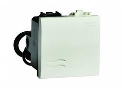 DKC Brava Белый Выключатель кнопочный с подсветкой 2 мод арт. 76022BL