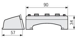 DKC DPA A Отвод для напольного канала арт. 04058