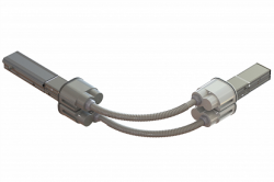 DKC Гибкий поворот шинопровода, Cu, 2P+2P/4P+4P/4P+2P, 40A арт. LTC40FFLXJAA000