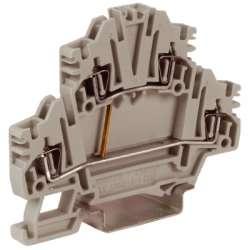 DKC HMD.2N/CIGR, Зажим проходной 2-х уровневый, серый, 2,5 кв.мм с постоянной перемычкой арт. ZHD450GR