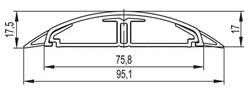 DKC In-Liner Front Напольный короб CSP-F, белый 75x17W арт. 01331