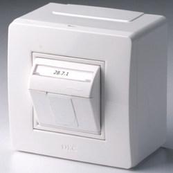 DKC In-Liner Коробка в сборе с 1 розеткой RJ-45, кат. 5е Pcnet (тел./комп.розетка) арт. 10665