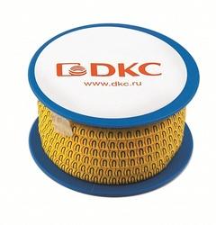 DKC Колечки с черными буквами D на желтом фоне D=2,5-4,0mm арт. AZO3DDBY