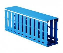 DKC Короб перфорированный с крышкой, синий RL12 120x60 арт. 00242RL