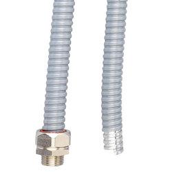DKC Металлорукав DN 15мм в ПВХ изоляции, Dвн 15,5 мм, Dнар 19,5, 50 м, цвет серый арт. 6071-015