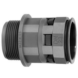 DKC Муфта труба-коробка DN 23 мм, M25х1,5, полиамид, цвет чёрный арт. PAM23M25N