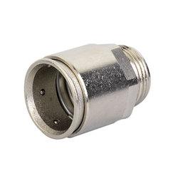 DKC Муфта труба-коробка д.20мм, IP66/IP67, М20х1,5, никелированная латунь арт. 6111-A20N