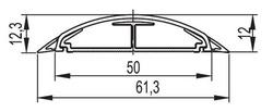 DKC Напольный канал 50х12 мм CSP-F, белый арт. 01031