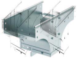 DKC Ответвитель TDSR Т-образный вертик. переxодник 300х80 арт. 37626