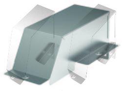 DKC Ответвитель-крышка Т-обр - переходник DDT 150/100, горячеоцинкованный арт. 36563HDZ