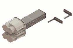 DKC Питающий элемент + заглушка, тип 1, Cu, 2P+2P/4P+4P/4P+2P, 25A арт. LTC25FFED3AA000