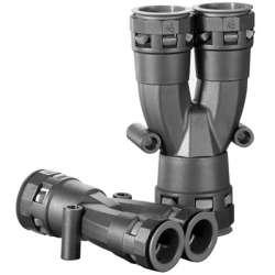 DKC Разветвитель DN 1х17 + 2х12 мм, полиамид, цвет чёрный арт. PAY171212N