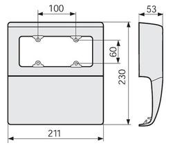 DKC SBA6 W Коробка под розетку арт. 04044