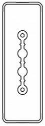 DKC Секция прямая шинопровод 1+0 точек отвода L=3000мм Cu 2P 25A арт. LTC25ASP42AA000