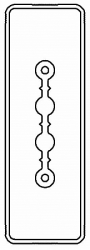 DKC Секция прямая шинопровод 1+0 точек отвода L=3000мм Cu 2P 40A арт. LTC40ASP42AA000