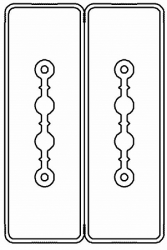 DKC Секция прямая шинопровод 1+1 точек отвода L=1000мм Cu 2P+2P40A арт. LTC40BSP44AA000