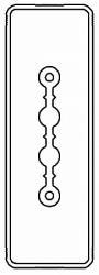 DKC Секция прямая шинопровод 3+0 точек отвода L=3000мм Cu 2P 25A арт. LTC25ASP43AA000