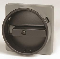 DKC Серебряная площадка 67х67 - черная ручка B63 с замком 22мм для сер.АМ арт. AZ6501