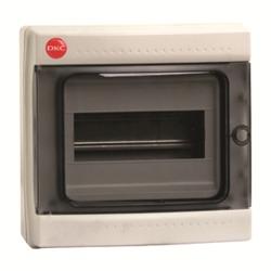 DKC Щиток настен. с дверцей 8 мод., IP65, серый, с усил. клеммн.блоком 1х87308 арт. 85708