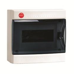 DKC Щиток настен. с дверцей 8мод., IP41, белый, с усил. клеммн.блоком в компл. 1х87308 арт. 84708