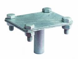 DKC Соединитель вертикального заземлителя, латунь арт. NE1302CUZN