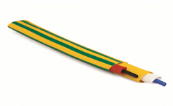 DKC Термоусаживаемая огнестойкая трубка в рулоне 76,2/38,1 мм зеленый арт. 2NS201R762G