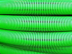 DKC Труба двустенная дренажная гибкая, без фильтра,(в компл. с соед. муфтой), внеш.D=125 мм (50m) арт. 140912